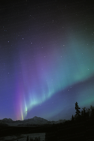 Aurora over Denali and Big Dipper