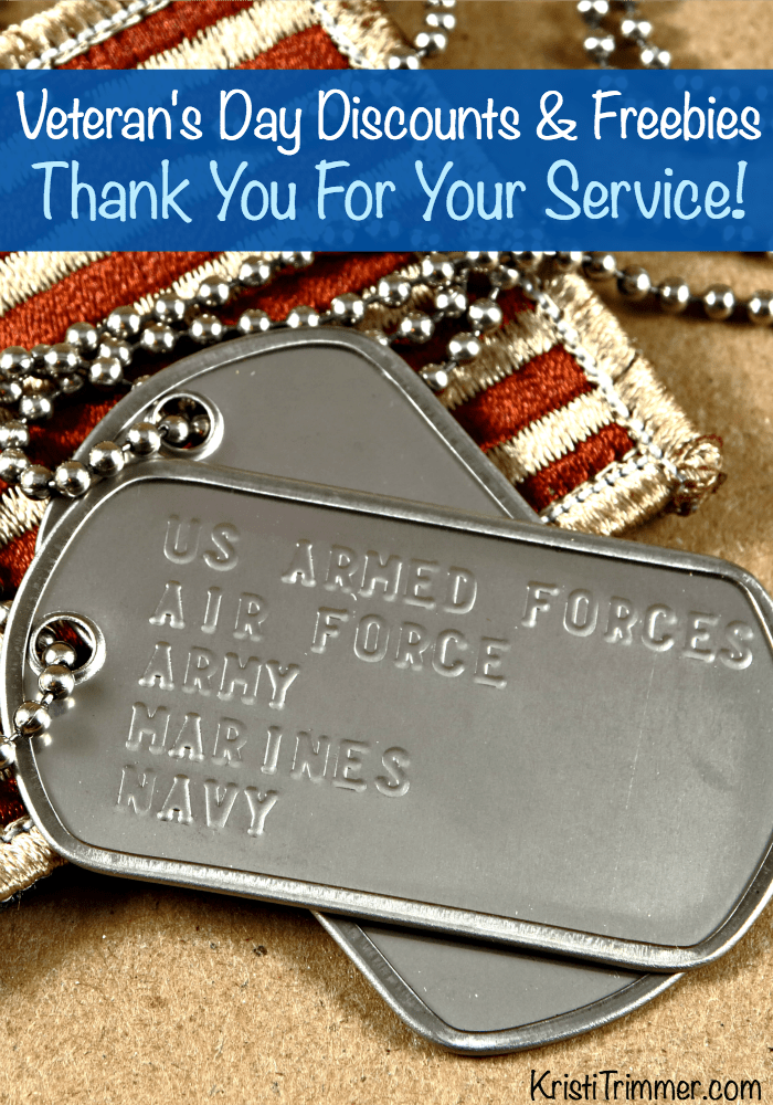 Veteran's Day Discounts & Freebies Thank You For Your Service!