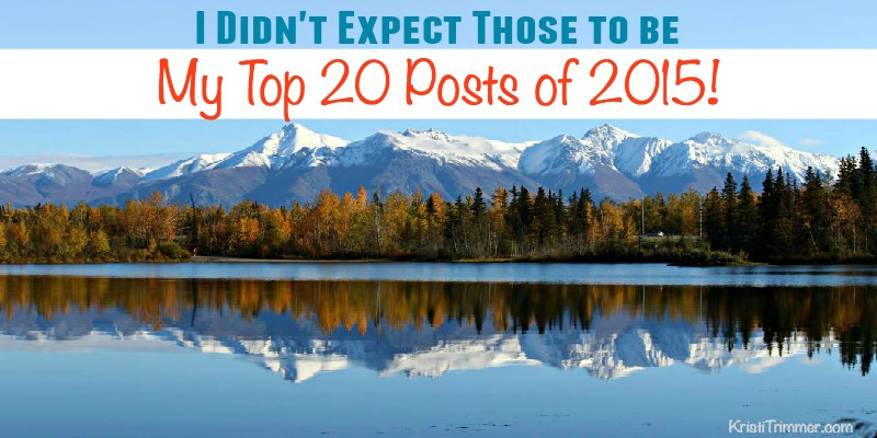 I Didn't Expect Those to be My Top 20 Posts of 2015