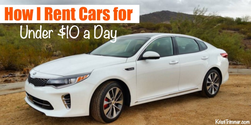 How I Rent Cars for Under $10 a Day FB