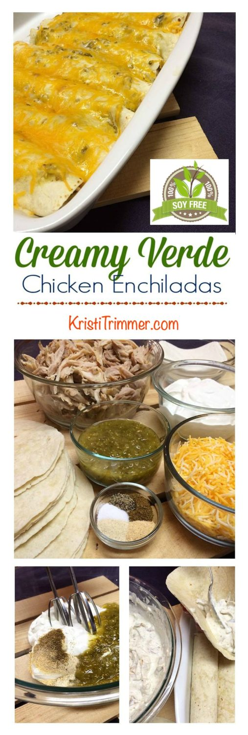 Soy Free Creamy Chicken Enchiladas #mexicanfood #recipes #enchilidas