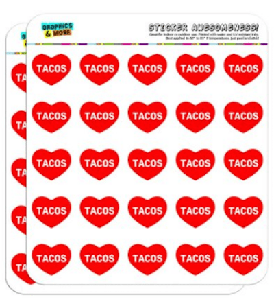Taco Stickers