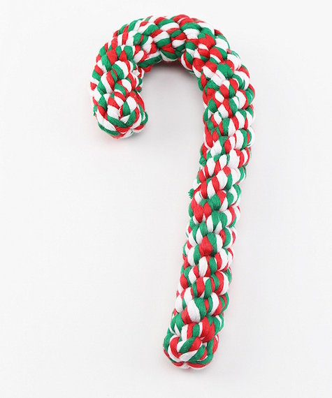 Christmas Cane Dog Toy