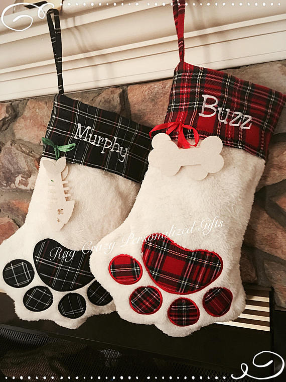 Paw Shaped Christmas Stockings