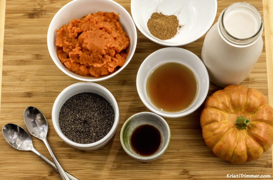 Pumpkin Spice Pudding Ingredients