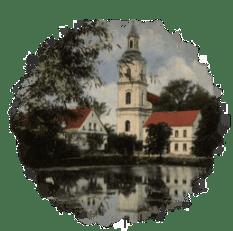 Kościół od strony dawnego stawu