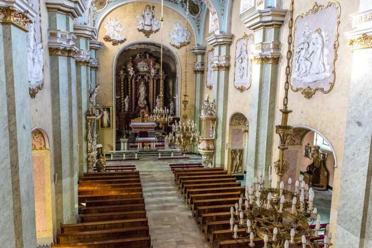 Kościół św. Mikołaja w Krobi - widok z chóru
