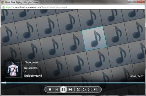 Musikplayer Remotezugriffwebseite WHS 2011