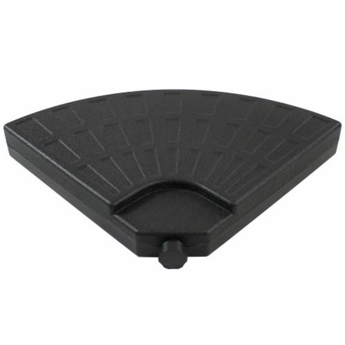 sunnydaze heavy duty cantilever offset patio umbrella base plate 4 pk black 1 unit s