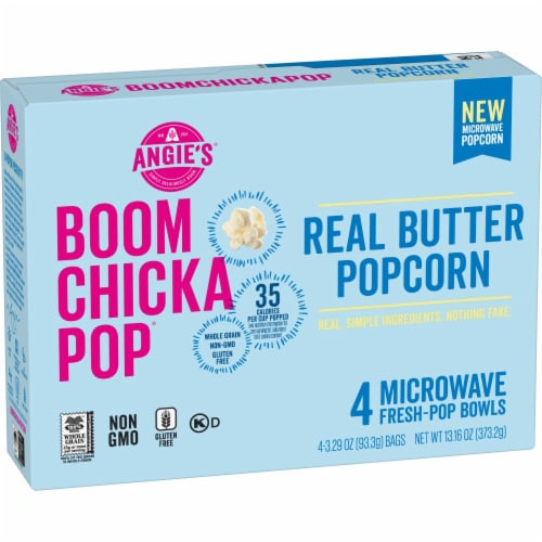 angies boom chicka pop real butter microwave popcorn 4 ct 3 29 oz