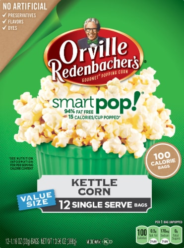 kroger orville redenbacher s smart pop kettle corn popcorn 12 ct 1 16 oz