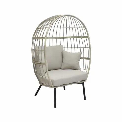 dash of that aria wicker egg chair