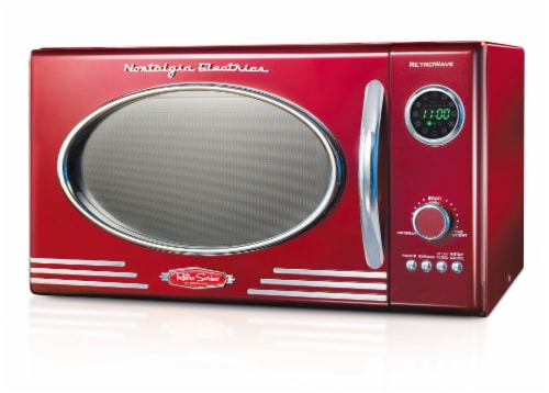 mariano s nostalgia countertop microwave oven retro red 1 ct