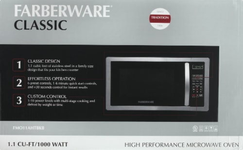 fred meyer farberware classic 1000 watt high performance microwave oven stainless steel 1 ct