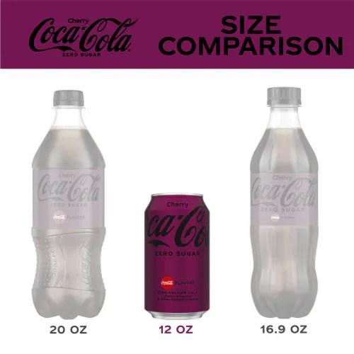 coca cola cherry zero sugar soda 12