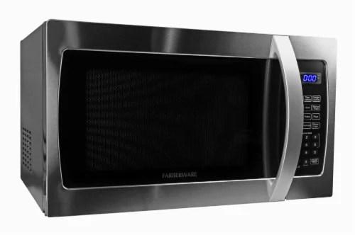 farberware professional 1000 watt microwave oven stainless steel 1 3 cu ft