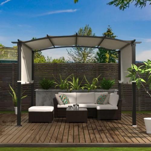 kumo 10 x8 pergola gazebo canopy outdoor patio garden steel frame sun shelter 1 unit