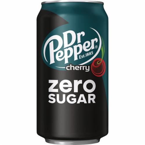 dr pepper zero sugar cherry soda 12 cans 12 fl oz