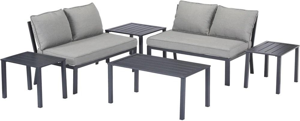 patio furniture in garden patio