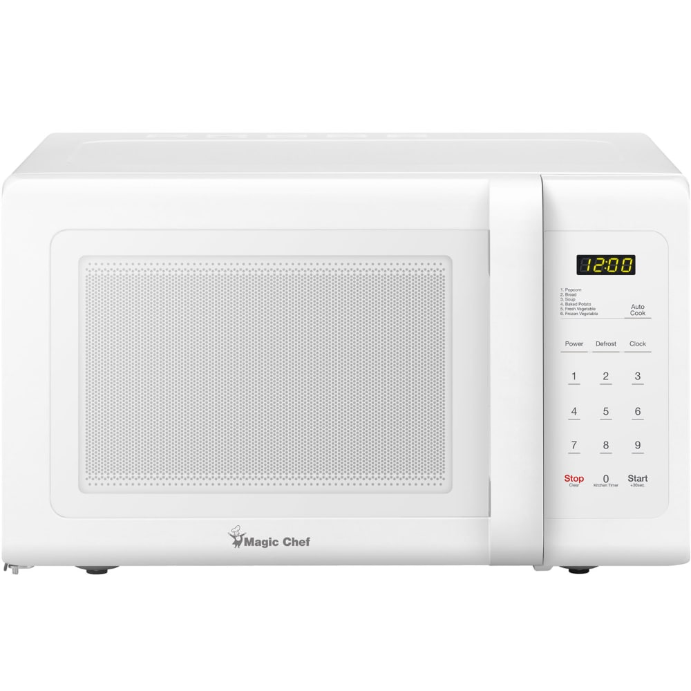 magic chef countertop microwave oven white 0 9 cu ft