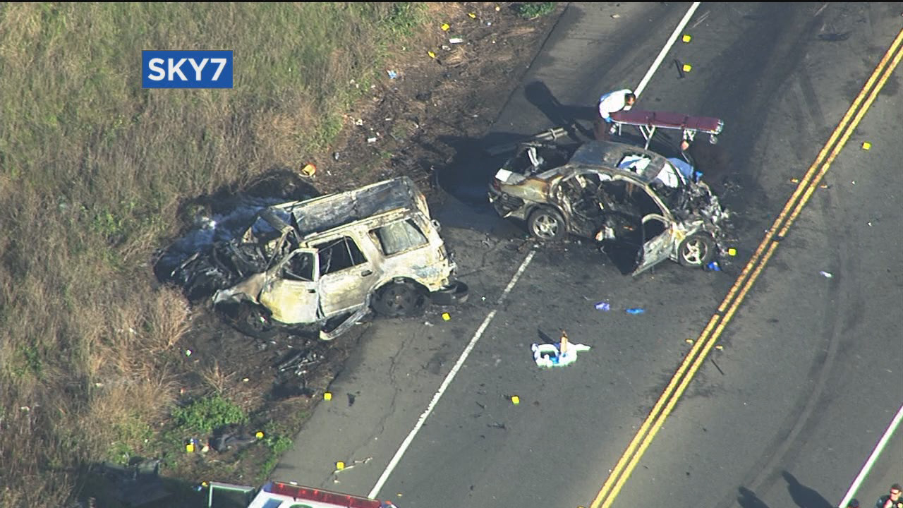 Two killed in fiery crash in Fairfield
