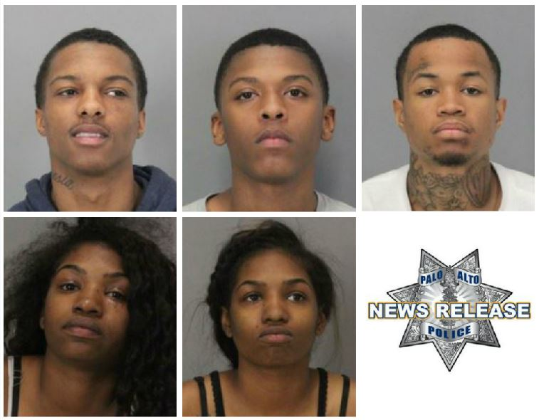 Mugshots released of 5 arrested in Palo Alto hit-and-run