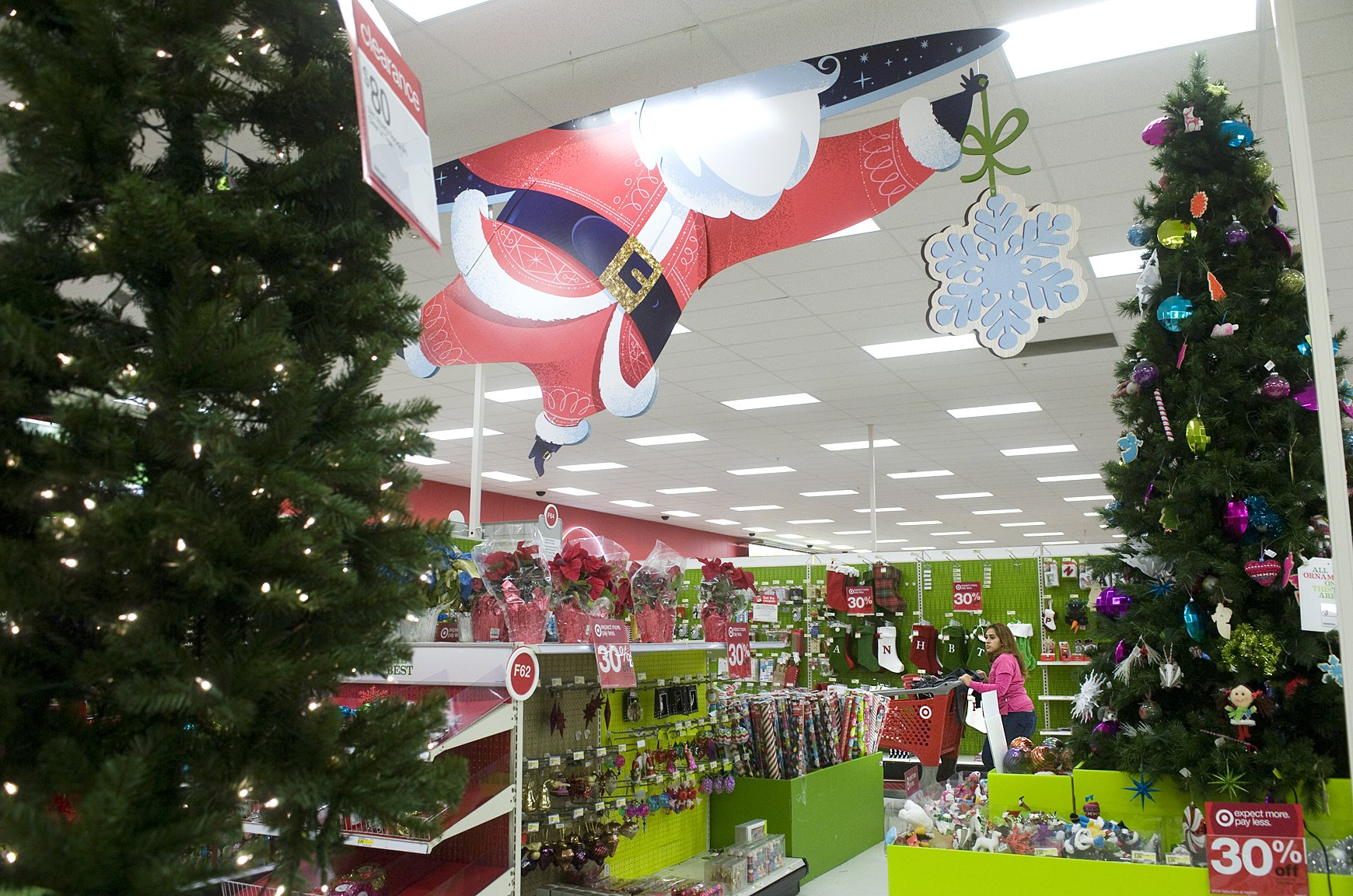 target christmas holiday shopping spending