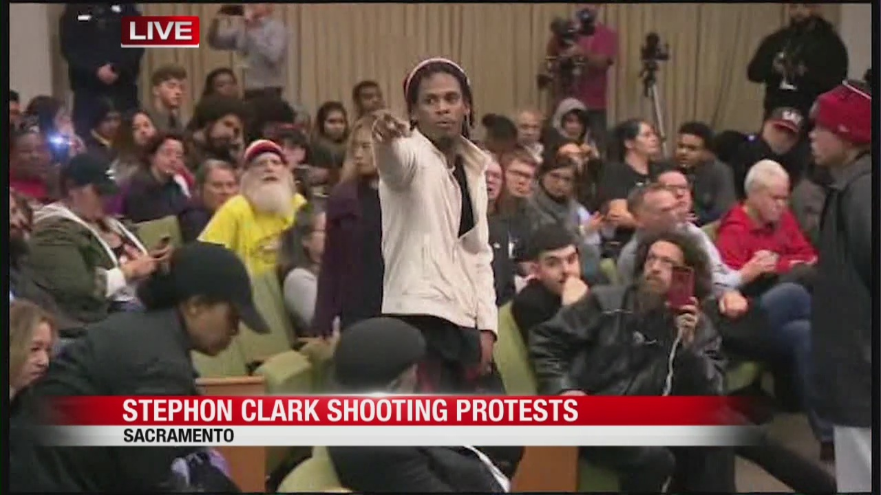 Protesters storm Sacramento City Council in aftermath of Stephon Clark decision