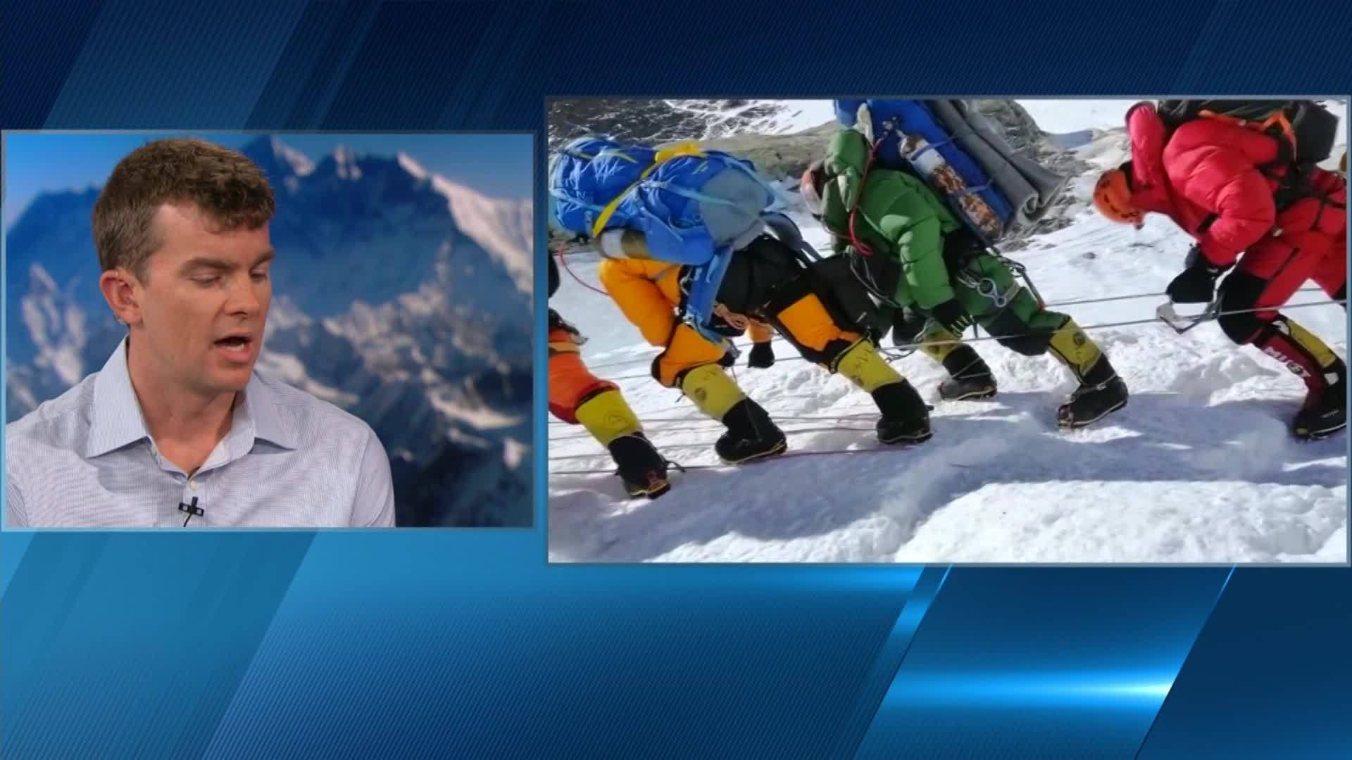 Mt Everest climber on crowds, weather conditions