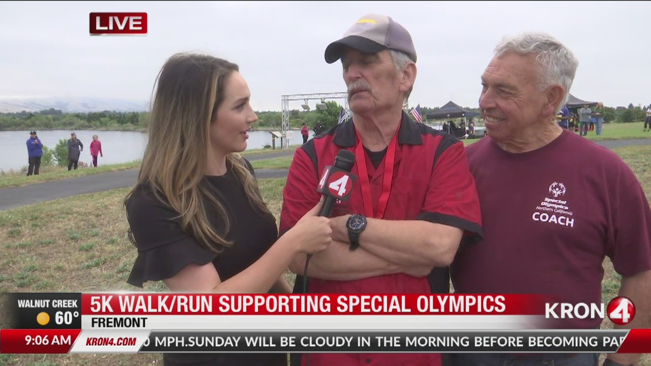 Special Olympic athlete talks about 5K walk/run in Fremont