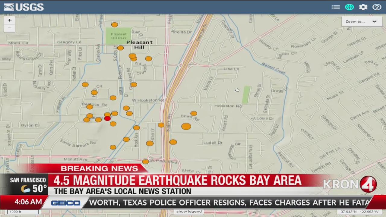 4.5-magnitude earthquake rocks Bay Area