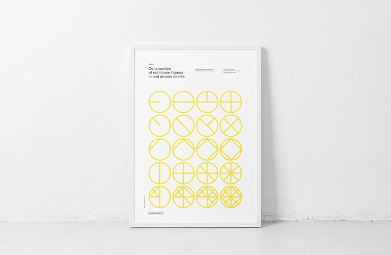 Book 4. Poster. Construction of rectilinear figures in and around circles. Euclid's Elements