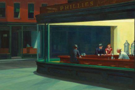Over leren van een schilderij: Nighthawks van Edward Hopper
