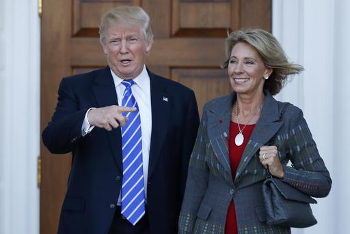 AP-Donald Trump, Betsy DeVos_480249