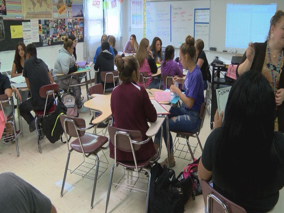 A classroom at Belen High School_663778
