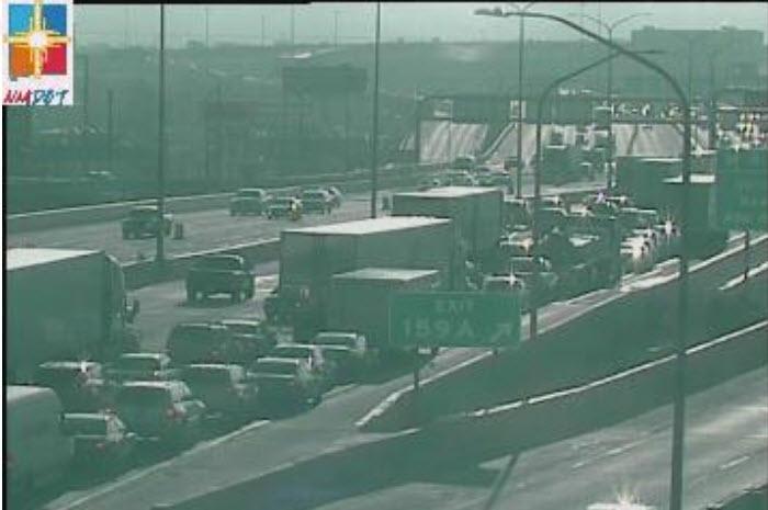 Police respond to crash on I-40 Eastbound just west of the Big-I