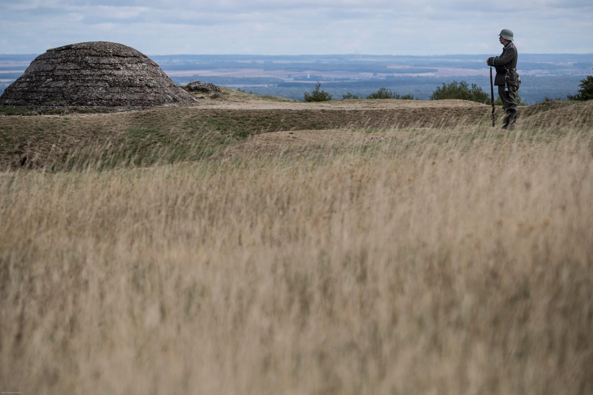 Re Enactment Of World War I Encampment In Verdun France