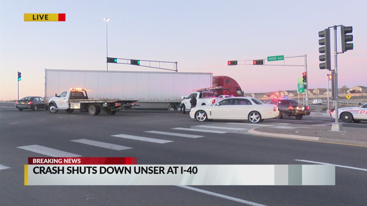 Unser at I-40 reopened after semi-truck crash