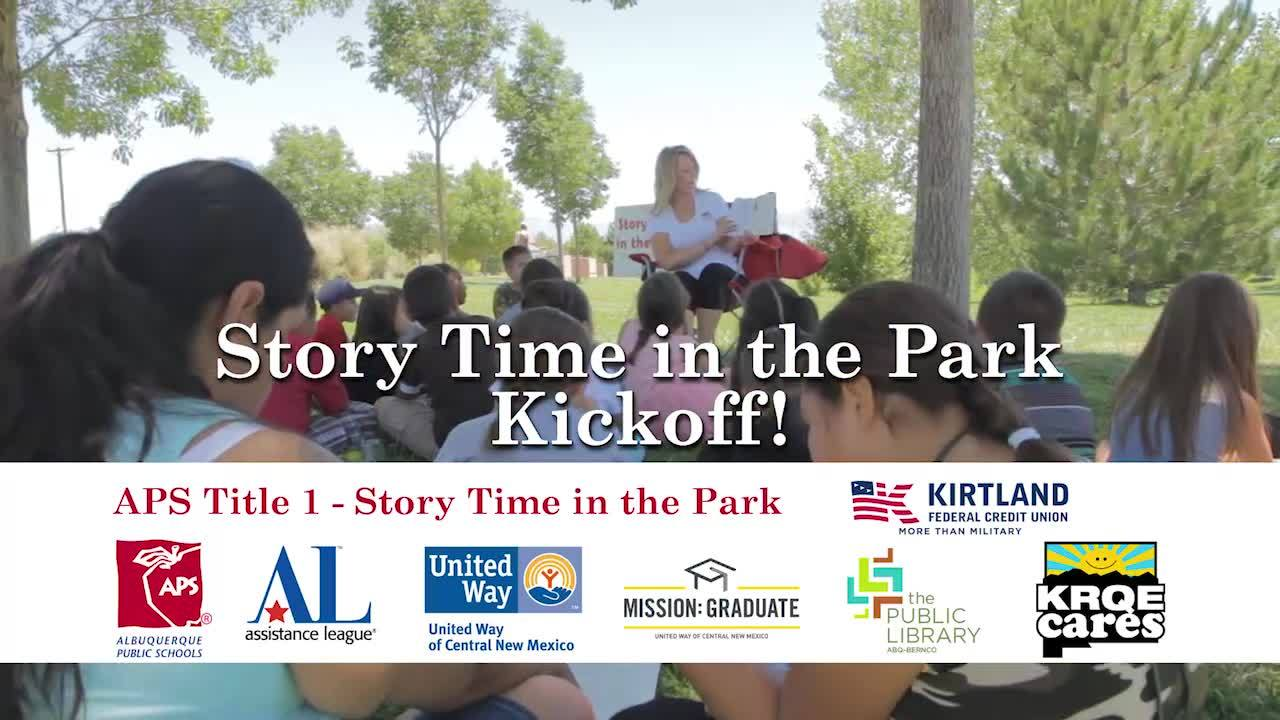 KRQE Cares Books for Kids - APS Title 1 Story Time in the Park Kick Off