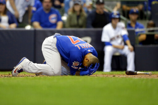 LEADING OFF: Cubs' Russell hit in face, D-backs face deGrom