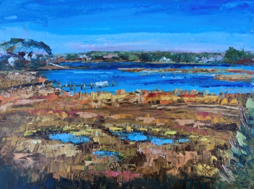 Oil painting of Marsh in Osterville, MA