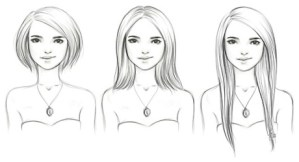 different hair lengths