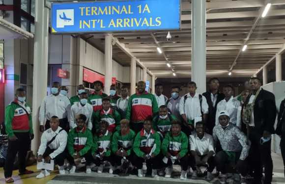 Team Madagascar finally lands in Kenya for the 2021 U20 Barthés Trophy and Rugby Africa Women's Cup