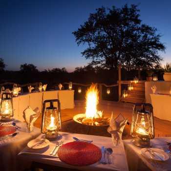 Simbambili Game Lodge Boma Dining Layout
