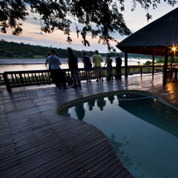 Sefapane River Lodge Deck Swimming Pool