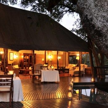 Hamiltons Tented Camp Deck Area Evening