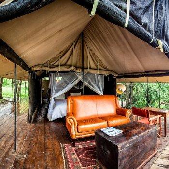 Honeyguide Mantobeni Camp Tent Lounge