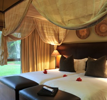 Mjejane River Lodge Double Bed View