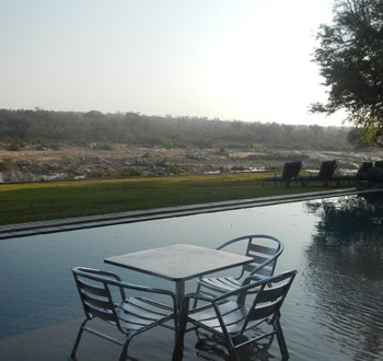 Mjejane River Lodge Pool Area View