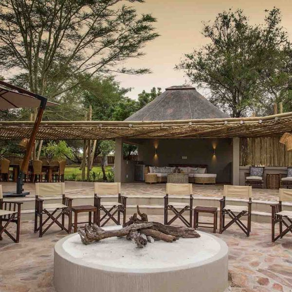 Amani Safari Camp Outdoor Fire Place